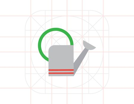 bailer: Watering can icon Illustration