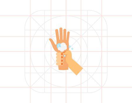 handwashing: Washing Wrists Icon