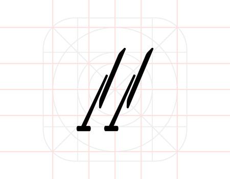 windshield wiper: Windscreen wipers simple icon