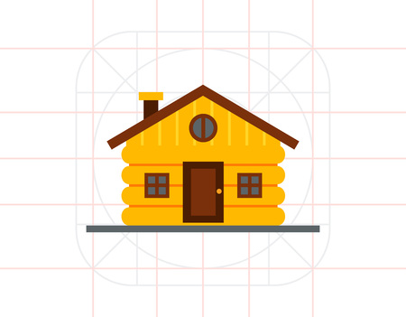 wood log: Wood Log House Icon