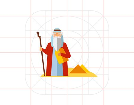 moses: Moses in Desert Icon