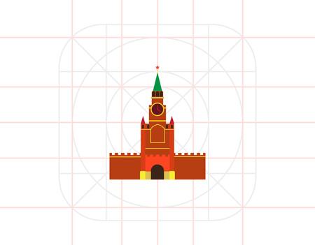 spasskaya: Moscow Kremlin building