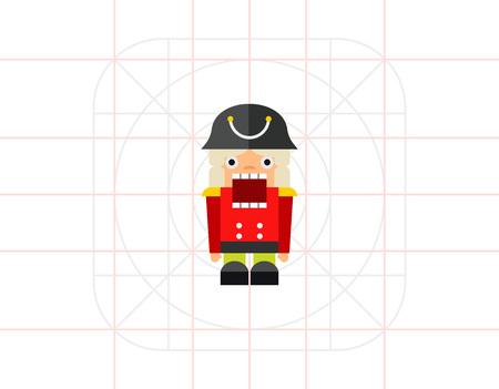nutcracker: Nutcracker Toy Icon Illustration