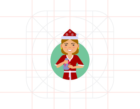 192d4a02a68 520 Santa Hat Blond Stock Vector Illustration And Royalty Free Santa ...