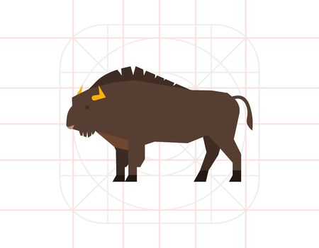 Wisent icon Stock Photo