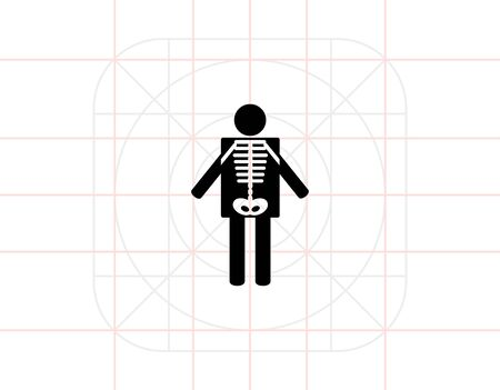 Human radiography. Examination, equipment, care. X-ray concept. Can be used for topics like medicine, healthcare, health, technology.