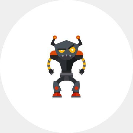 humanoid: Angry Humanoid Robot Icon