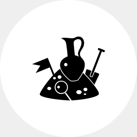 Archeology simple icon Illustration