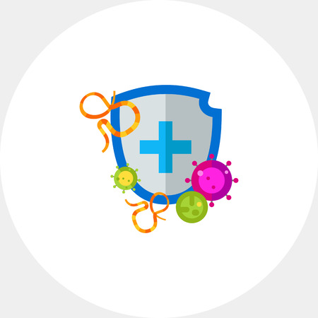 Antibacterial Shield Protection Vector Icon