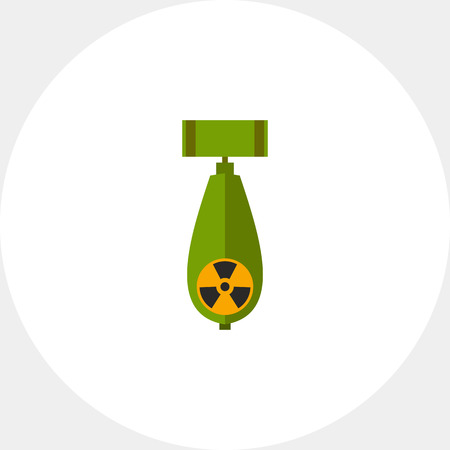 Atomic Bomb with Radiation Sign Icon