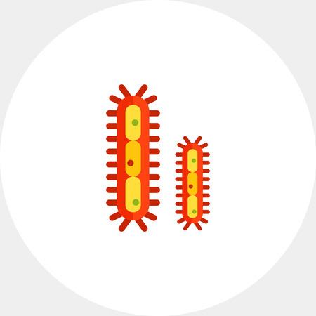 Bacteria with flagella Illustration