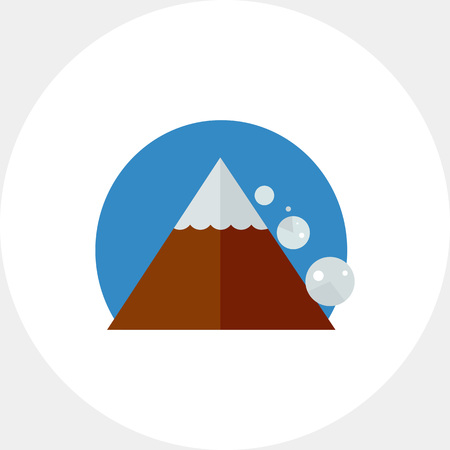 Avalanche Down Mountain Side Icon Illustration