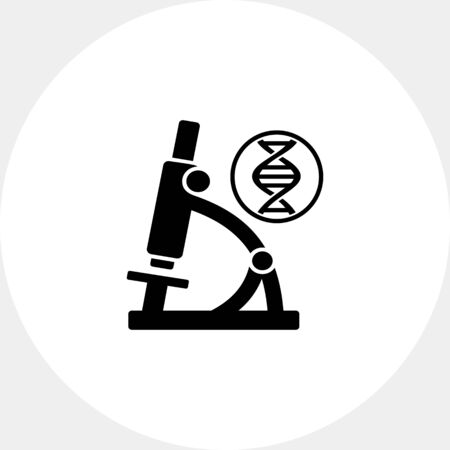 Biology simple icon Stock Photo