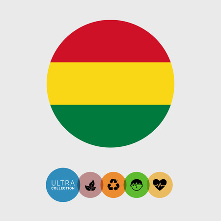 attribute: Set of vector icons with Bolivia flag