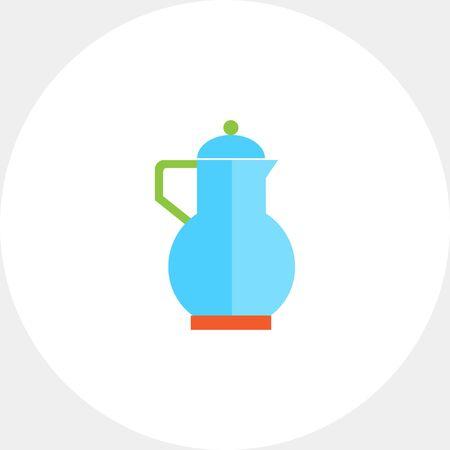 serving utensil: Blue jug