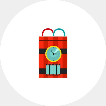 detonator: Bomb with Timer Vector Icon Illustration