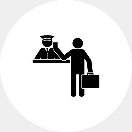 simple border: Border Simple Icon Illustration