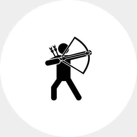 letting: Bow Man Simple Icon Illustration