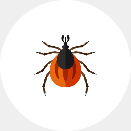 Brown mite icon