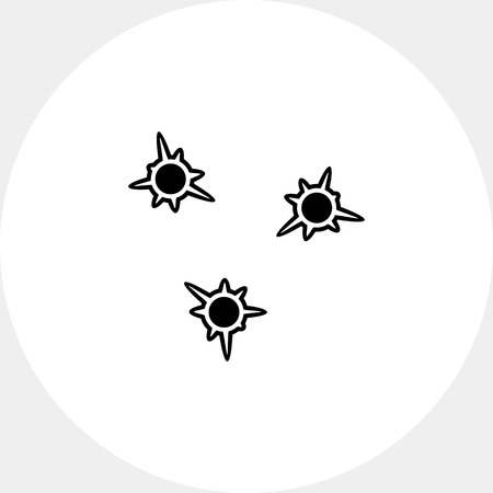 holes: Bullet holes simple icon