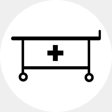 carrying the cross: Cart for Cure Icon Illustration