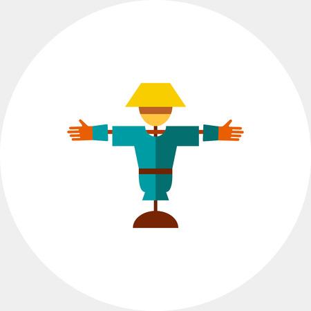 scarecrow: Cartoon scarecrow icon Illustration
