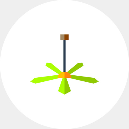 Ceiling Fan Vector Icon Illustration