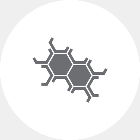 six objects: Cell structure icons Illustration