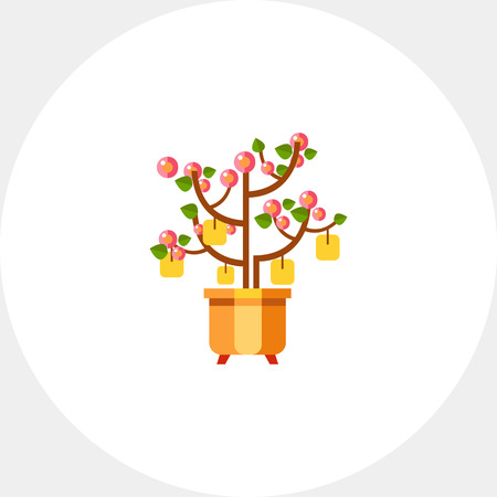 Chinese Peach Tree Icon