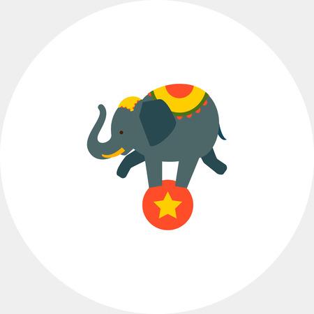 costume ball: Circus elephant on ball