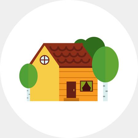 Cottage icon Illustration