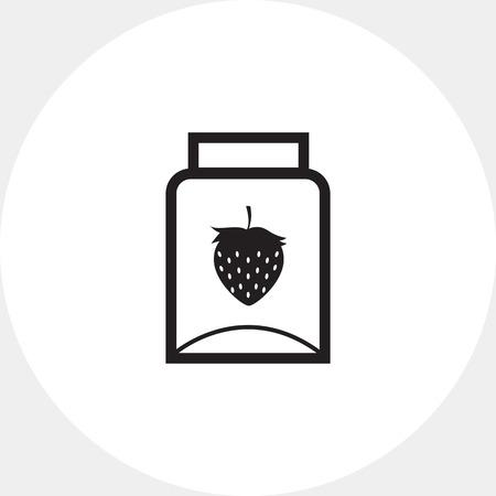 empty jar: Empty jam jar icon Illustration