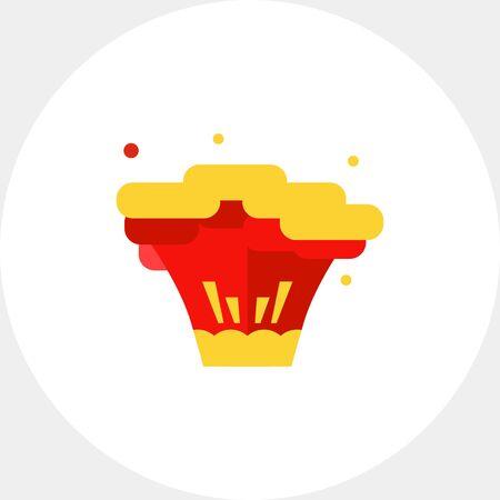 clash: Explosion flat icon Illustration