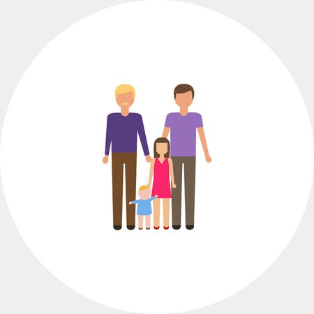 nontraditional: Gay family Illustration