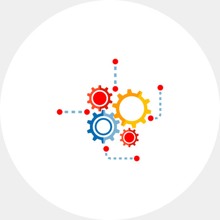 Gear Wheels as Engineering Concept Icon
