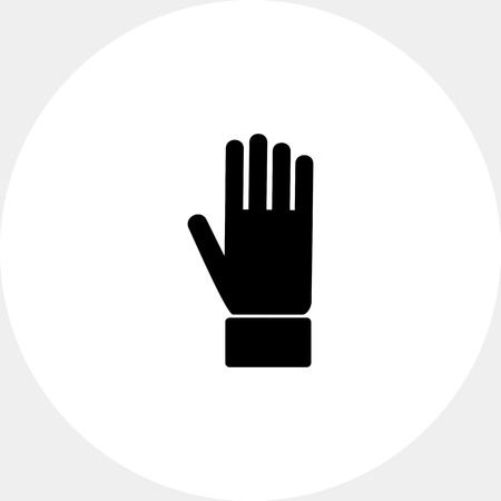 schematic: Hand palm simple icon