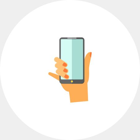 smartphone icon: Hand with Smartphone Icon