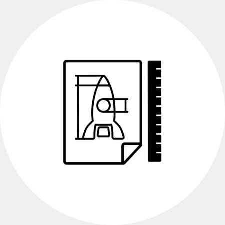 Image of Rocket as Prototype Concept Icon