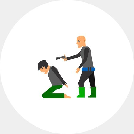 Hostage and Terrorist with Gun Icon