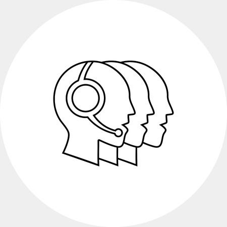 operators: Hotline operators icon