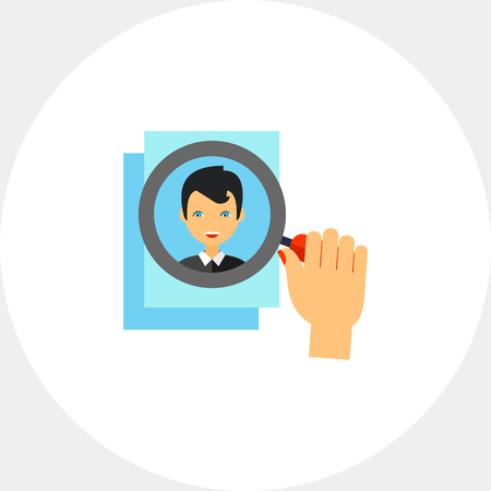 department head: Head Hunting Concept Icon