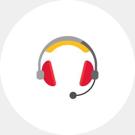 portable audio: Headset icon Illustration