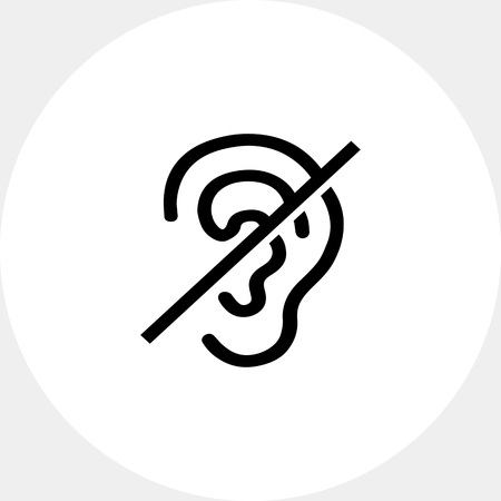 inability: Deaf Sign Icon Illustration