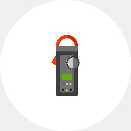 ammeter: Digital Clamp Meter Icon Illustration