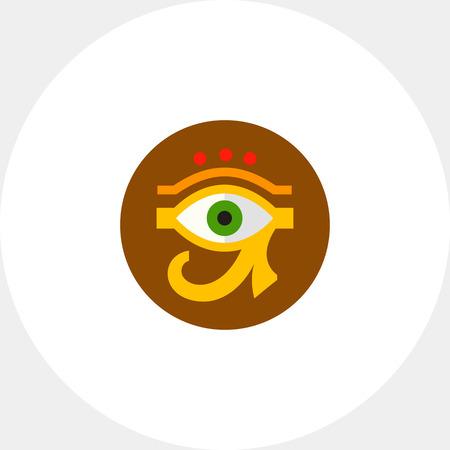 ojo de horus: Eye of Ra or Horus Icon Vectores