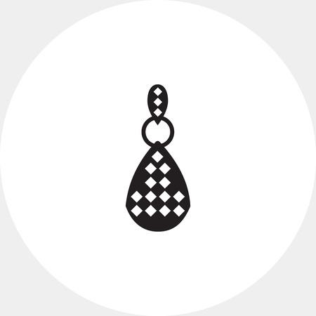 edelstenen: Oorbel met edelstenen