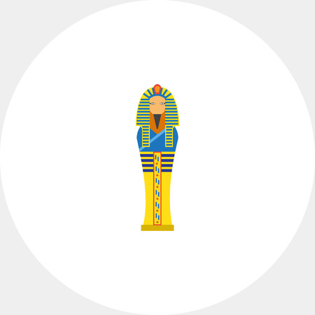Egyptian pharaoh sarcophagus icon Illustration