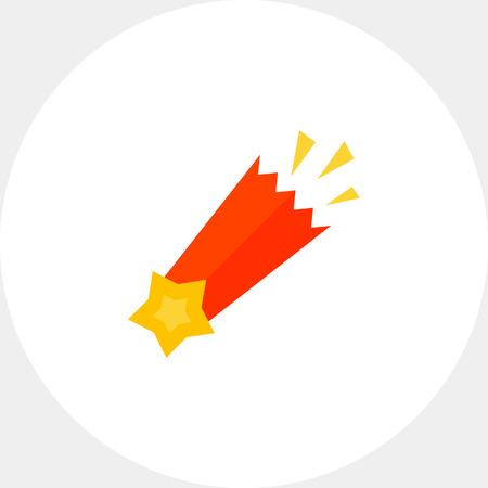 meteorite: Falling star icon