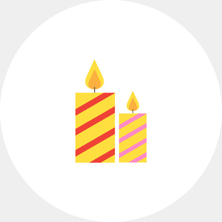 Festive candles Illustration