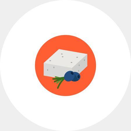 Feta Cheese Icon